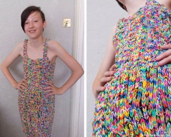WOW! Take note, paracorders. If a loom band dress can sell for $291,000, just imagine how much a paracord dress could go for. ‪#‎unreal‬ #paracord #loombands
