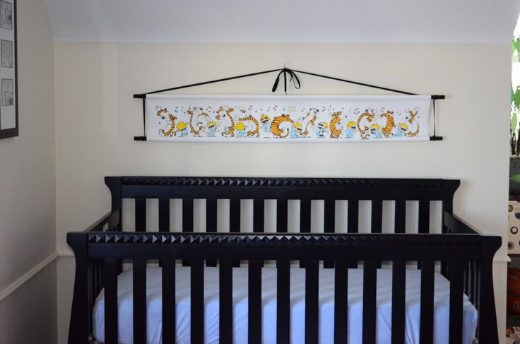 Handmade calvin and hobbes nursery project nursery for Calvin and hobbes nursery mural