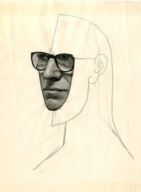 (Self-Portrait by Saul Steinberg, Untitled)