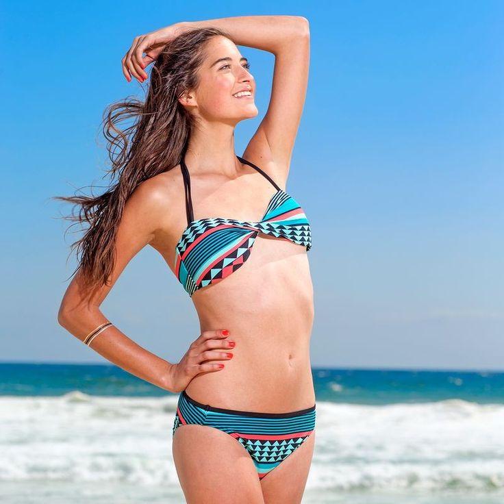 Lina Portofino csavart csőtop fazonú bikini, fix melltartóbetéttel, rózsaszín
