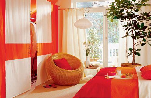 Оранжевые стены