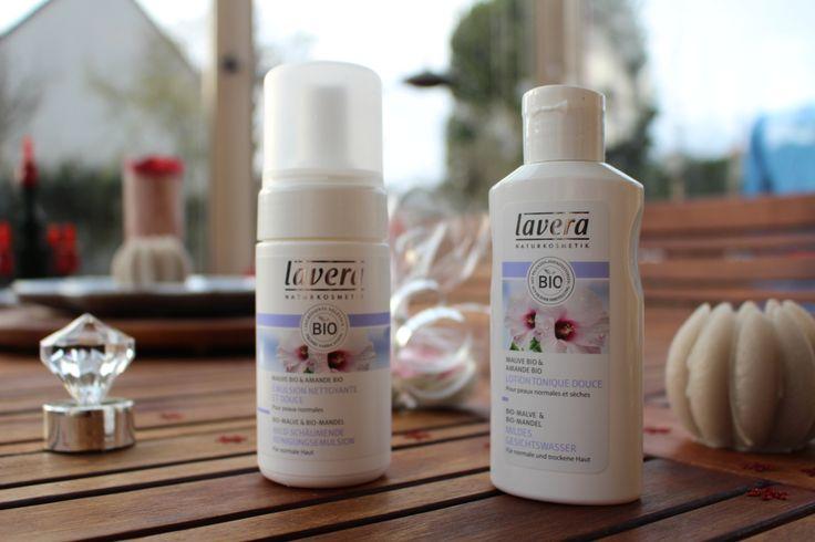 Soins visage pour peau normale à la mauve Lavera - test produit - avis Lavera