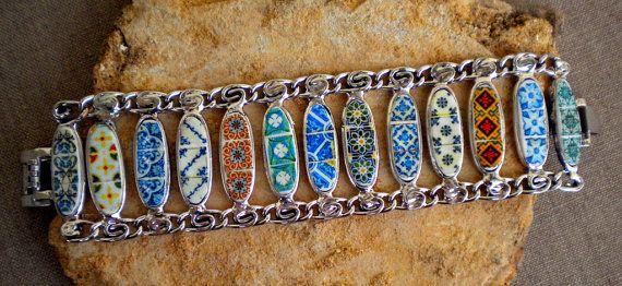Portugal  Antique Tile Replicas Bracelet  from Lisbon by Atrio, $85.00