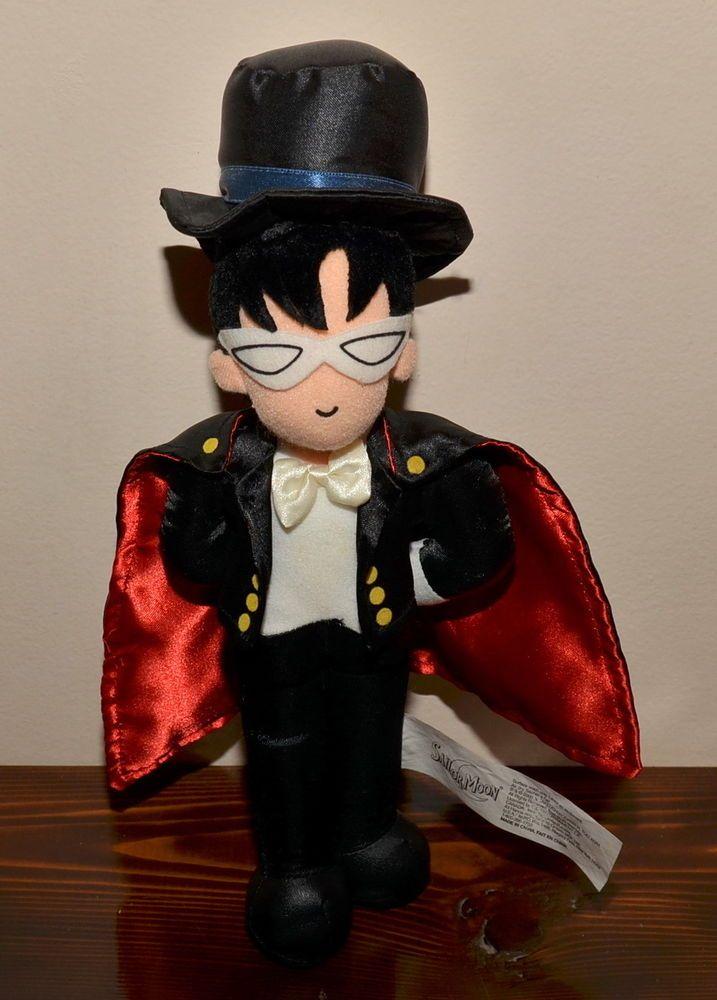 Sailor Moon Tuxedo Mask Kamen plush doll stuffed toy Irwin 2000 vintage  American  Irwin a5d56a1ffeab