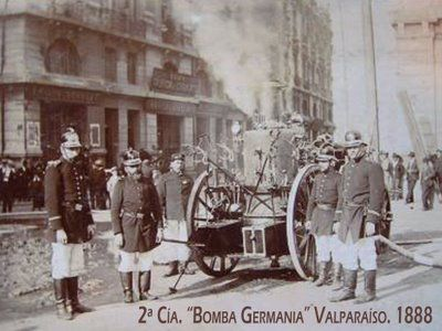 2da. Compañía Bomba Germania de Valparaíso,   Año 1888