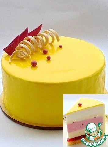 """Торт """"Лимонно-малиновый"""" - кулинарный рецепт"""