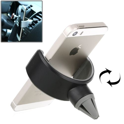 [$4.32] Universal Car Air Vent Phone Holder Stand Mount for iPhone 6 & 6 Plus, iPhone 5 & 5C & 5S, Samsung Galaxy S6 / S5 / S IV, Sony, Nokia, huawei, lenovo(Black)