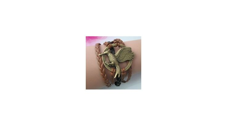 Éhezők viadala Futótűz karkötő extra méretű fecsegőposzáta medállal
