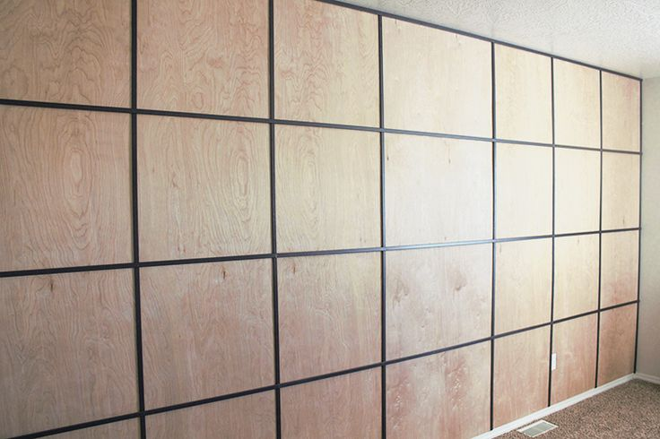 Easy Diy Plywood Panel Wall On A Budget Wood Panel Walls