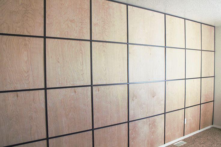 easy diy plywood panel wall on a budget wood panel walls on wall paneling id=24884