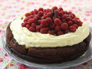 Torta rustica de chocolate sin harina