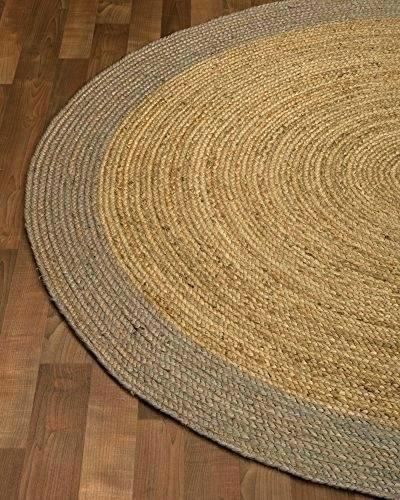 Enchanting Round Jute Rug 8 Arts Inspirational Or Rugs Foot Area Natural Fiber Feet By 38