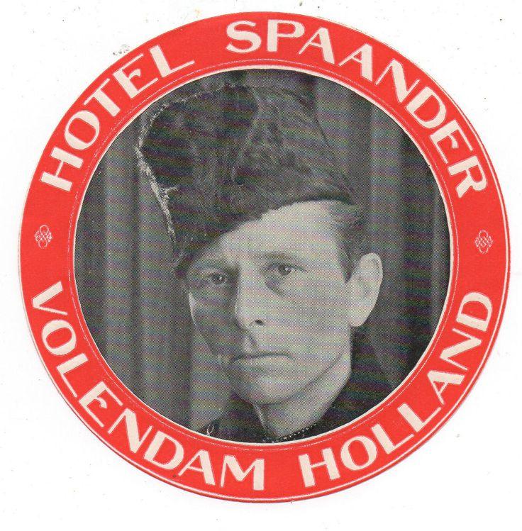 1920s Luggage Label Hotel Spaander Volendam Holland