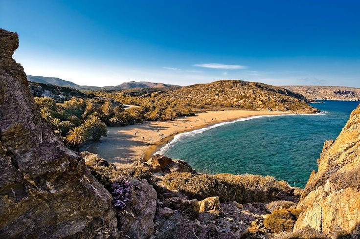 The exotic beach of Vai in Crete