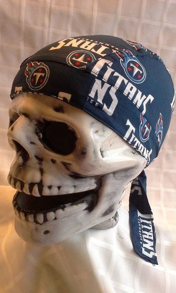 Tennessee Titans Skull Cap by JennifersGemz on Etsy, $9.99