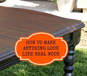 How to make anything look like real wood