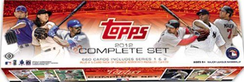"2012 Topps Baseball Factory Sealed HOBBY Version Set. It Contains the Standard 2012 Topps Baseball Complete 660 Card Set, a Bryce Harper Rookie Card #661 and a Bonus Pack Containing 5 Orange Parallel Cards. An Amazing Addition to Any Collection and a Great Gift! by 2012 Topps Baseball Factory Sealed Set Exclusive Fenway Park Anniversary Edition. $69.99. 2012 Topps Baseball Factory Sealed ""Hobby' Version"" which includes the Standard 2012 Topps Baseball Complete 660 Card..."