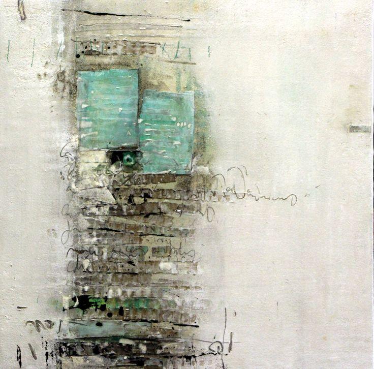 Chemin à deux, peinture de Mehdi Bourkia..