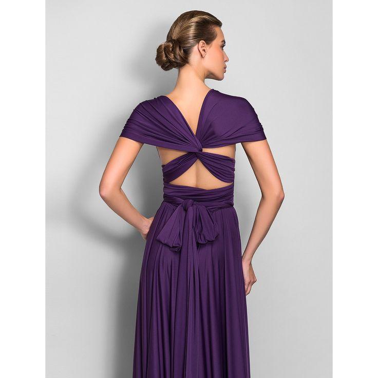 Sheath/Column Floor-length Jersey Convertible Dress