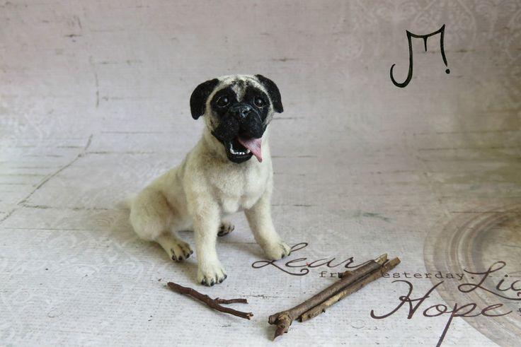 OOAK Handmade Miniature Bull Mastiff dog 1:12 Dollhouse Igma Artisan J Parrott