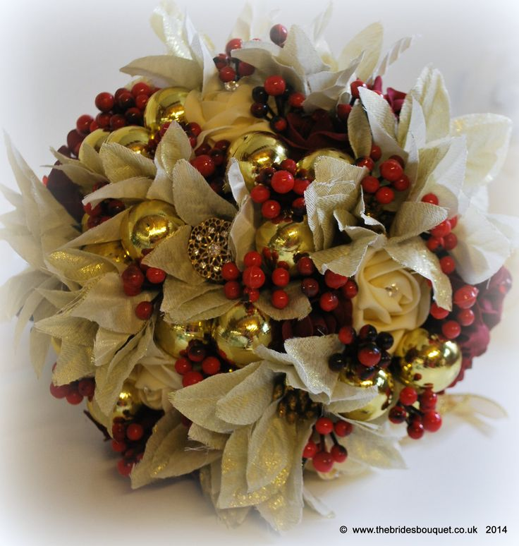 Christmas Wedding Bouquets And Flowers: 141 Best Wedding Bouquets: Let It Snow Images On Pinterest