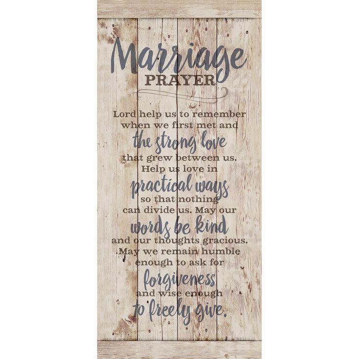 Dexsa Marriage Prayer New Horizons Plaque