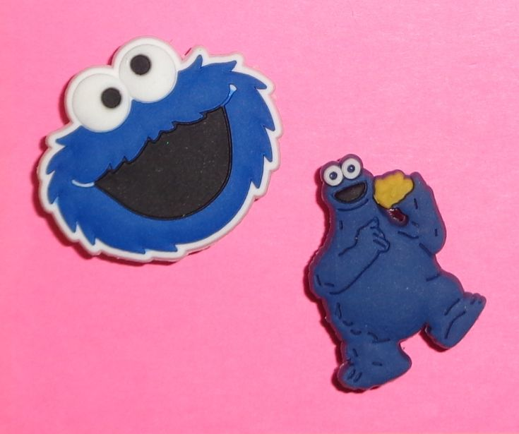 Cookie monster shoe charms shoe buttons shoe accessories