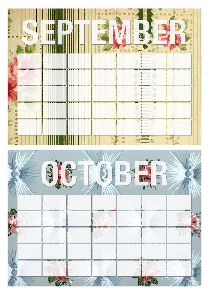 Wings of Whimsy: Vintage Rose Wallpaper Monthly Erasable Calendars #freebie #ephemera #vintage #printable #wallpaper #calendar