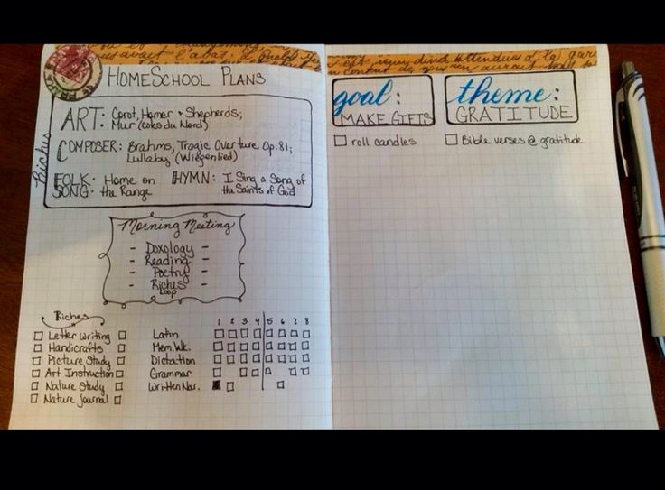 Image result for homeschool bullet journal