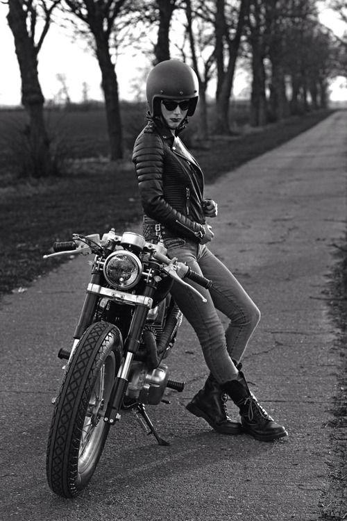 larchedenowaypictures: Cafe Racers GR Cafe#racer#girl