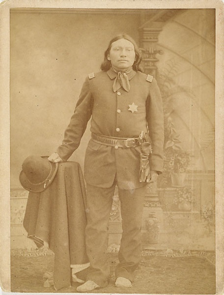 Cabinet Card of Black Coyote, Arapaho Chief of Police.