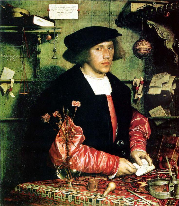 «Портрет Георга Гисце». 1532 г. 96 х 86 см. Ганс Гольбейн Младший. Картинная галерея, Берлин