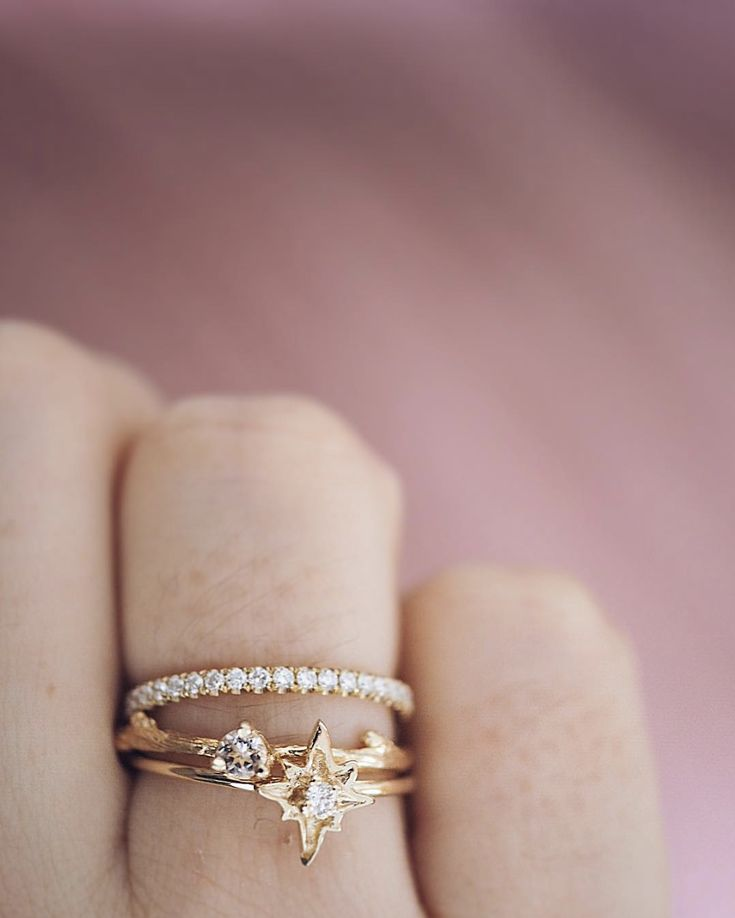 These three are being finished this week  Lost Without You is going to be a promise ring from the sweetest guy, I talked him through every single option but he said she was his guiding star ⭐️ Lucky Star is a pressie for a February baby from the best gang of girlfriends for her 30th birthday ❤️ The diamond Eternity is for the coolest woman who is buying it for herself because she wanted to honour finishing her masters by buying her own diamonds  Which one would you choose?