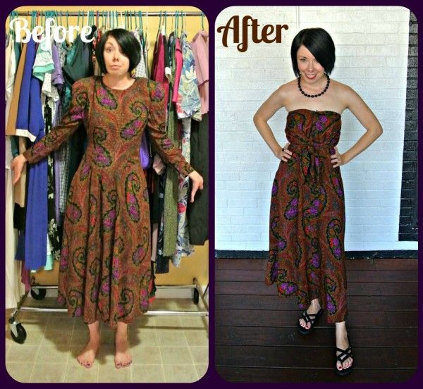 A Too Darn Hot No-Sew Refashion