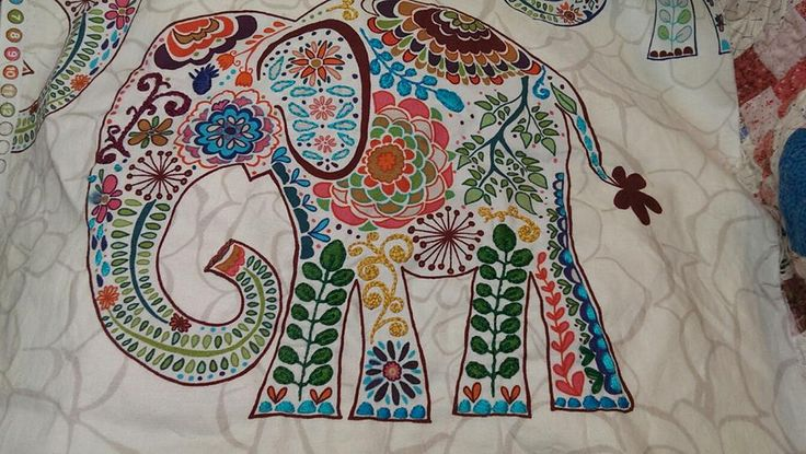 Embroidered Elephant needs to be embroidered and become a pillow