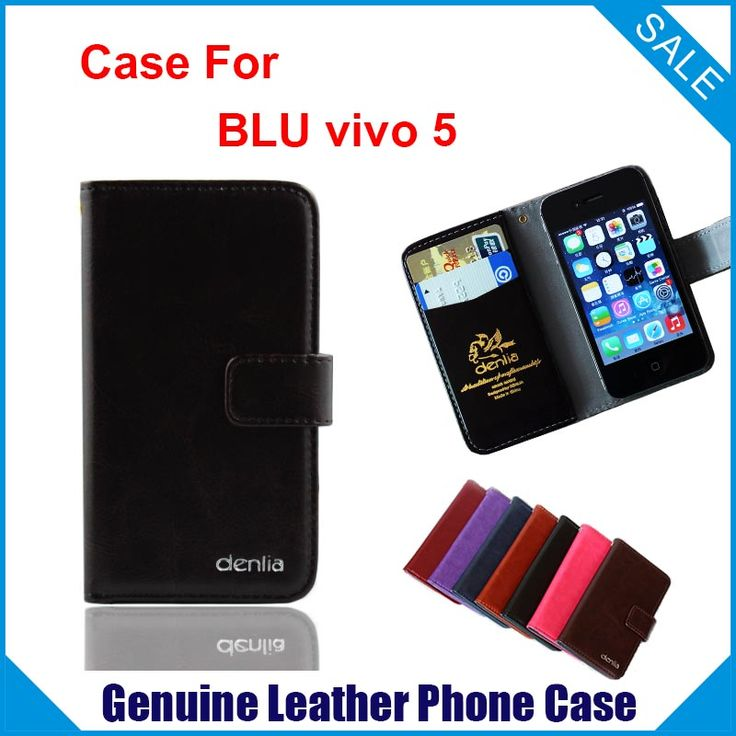 Hot! BLU vivo 5 Case, 7 Colors High Quality Genuine Leather Exclusive Case For BLU vivo 5 Real skin Tracking#blu vivo 5 case