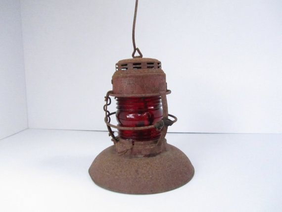 Vintage Lantern Oil Lamp by ShayesChicDecorNMore on Etsy, $47.00
