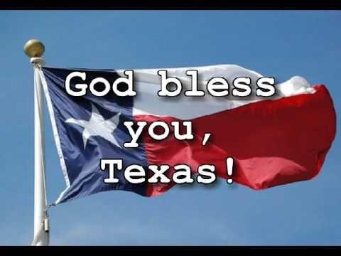 The State Song Of Texas Texas Our Texas Texas Our Texas