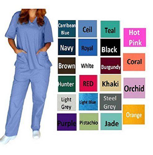 Womens V-Neck Solid Scrub Set Top and Pant 2 Piece Sets S... https://www.amazon.com/dp/B00YHLNFZU/ref=cm_sw_r_pi_dp_bsIzxbTWTHWJ0