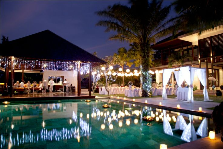 #weddingreception by the pool #weddings - #baliwedding - #baliweddingplanner - http://lilyweddingservices.com/