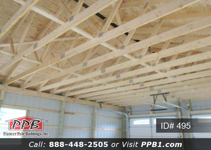 2 Ft On Center Trusses Ppb Pole Buildings 4 H Building