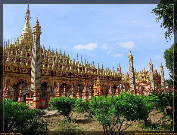 Pagodes de Soonooponyashin, Uminthonese   - Kaunghmundaw   - Pagodes de Thanbodday em Monywa