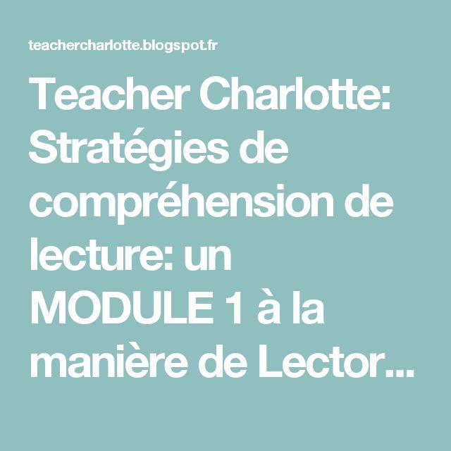 Teacher Charlotte: Stratégies de compréhension de lecture: un MODULE 1 à la manière de Lectorino&Lectorinette : Ma maitresse est une ogresse!