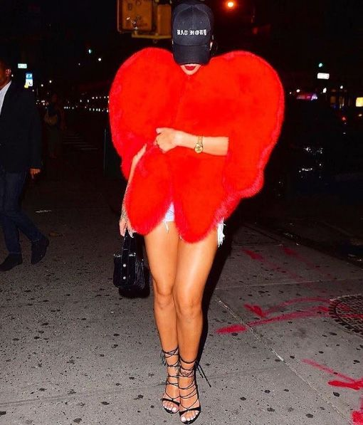 pelliccia cuore saint laurent
