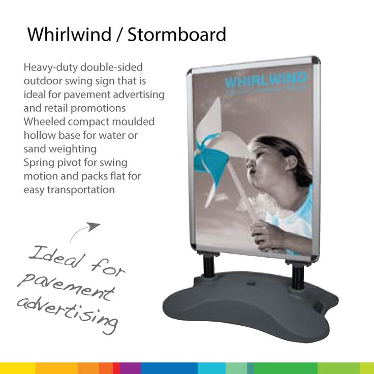 Our stormboards are perfect for shops and restaurant. Its the perfect promotion partner to attract attention!