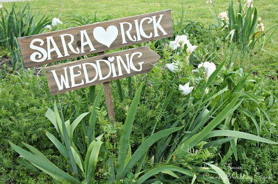 Rustic Wedding Signage Rustic Wedding Sign by CountryWeddingSigns, $50.00