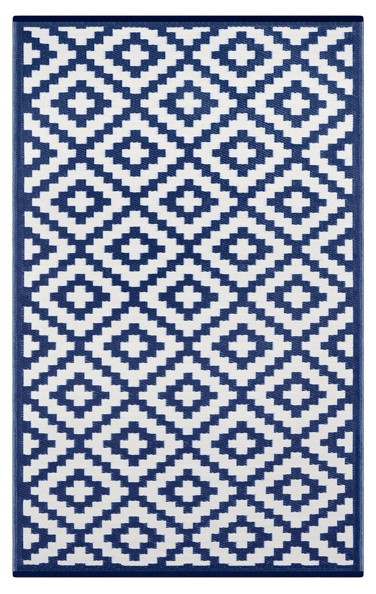 Nirvana Blue and White Rug
