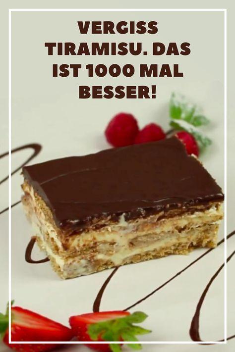 Vergiss Tiramisu. Das hier ist 1000 mal besser! Eclair-Kuchen-Rezept ohne Backen…