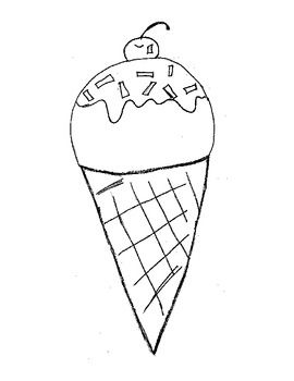 A free printable ice cream cone coloring page. Could also be used as a pattern for a felt/flannel board story. Free Printable Ice Cream Cone Coloring Page by Anne Clark is licensed under a Creative Commons Attribution-ShareAlike 3.0 Unported License.