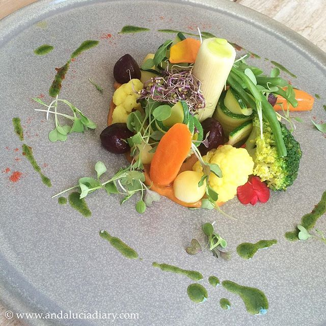 'The vegetable garden' - a first plate at Restaurante KM 0 #slowfood #restaurants #foodpic #foodstag